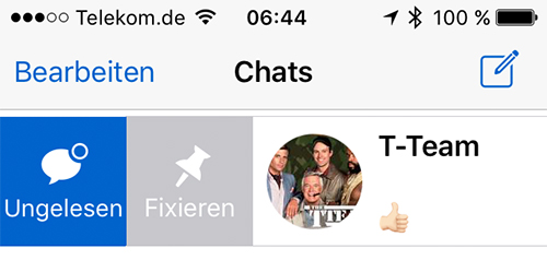Whatsapp Chats Fixieren