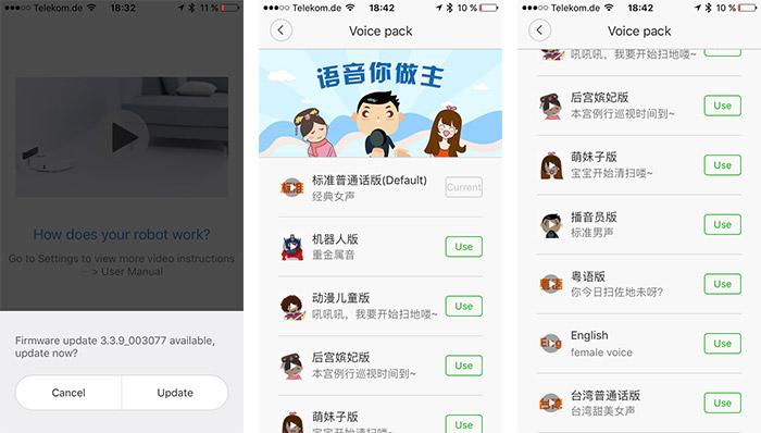 Xiaomi Robot App Englisches Sprachpaket