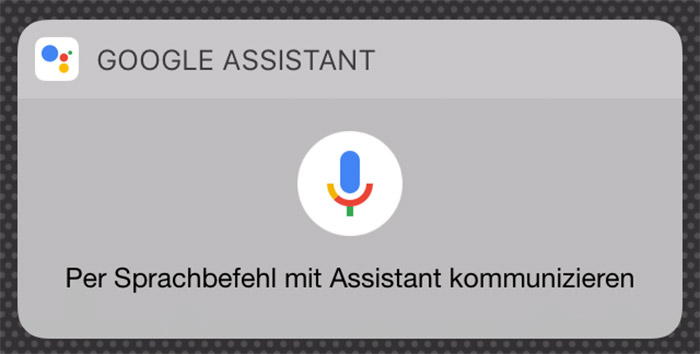Google Assistant Widget Iphone