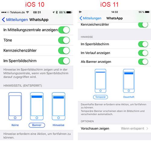 neue iphone aber alte whatsapp nachrichten werden nicht angezeigt