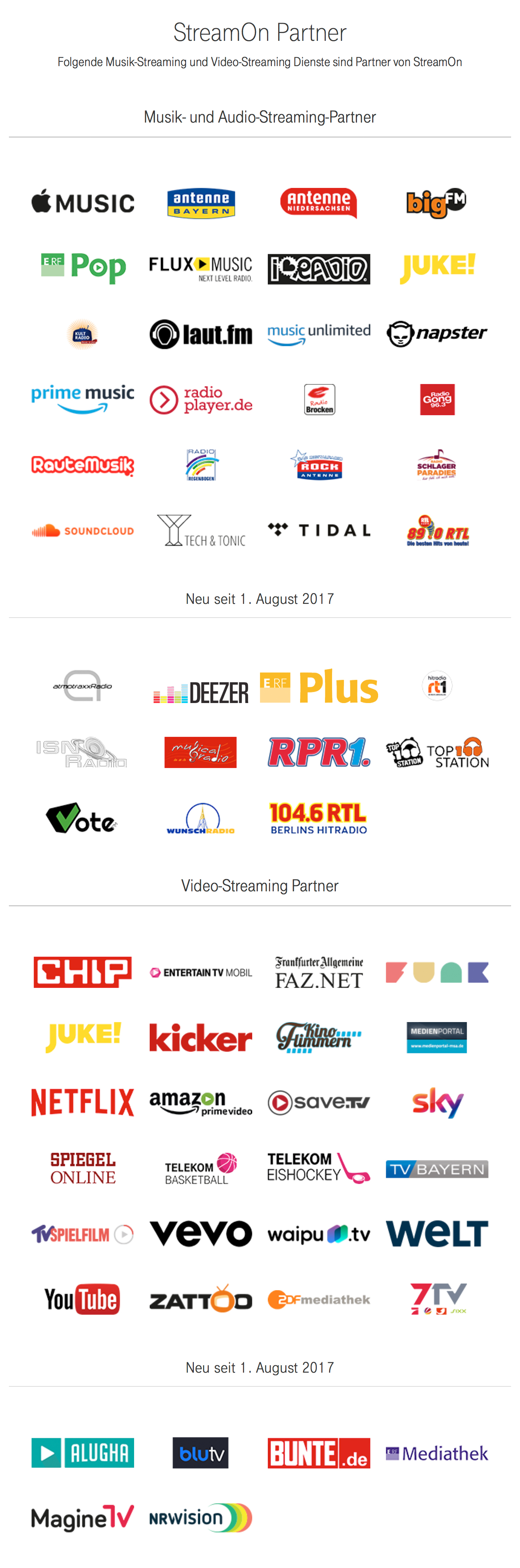 Streamon Partner August 2017