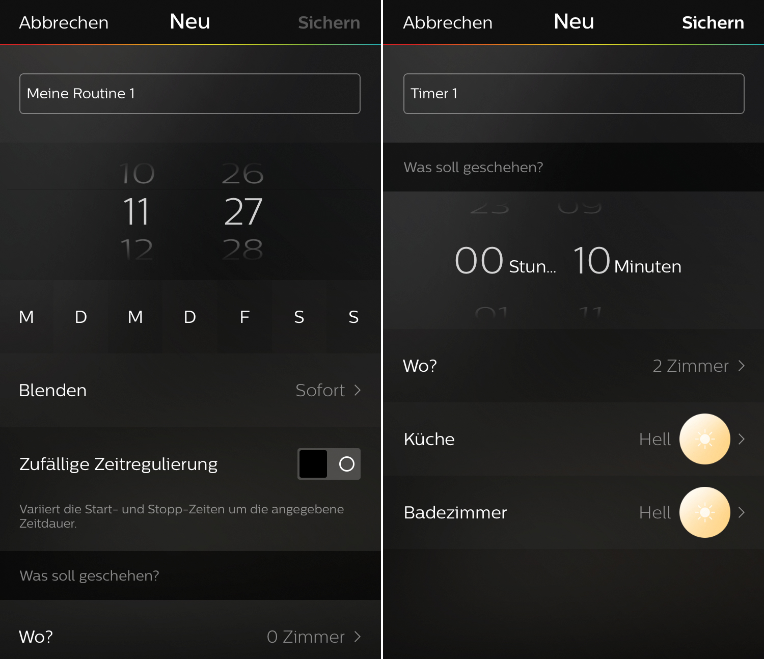 philips hue jetzt mit timern schlauen routinen und erinnerungen iphone. Black Bedroom Furniture Sets. Home Design Ideas