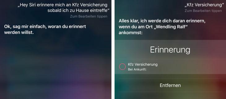 Versicherung Siri