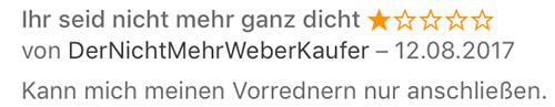 Weber Rezension