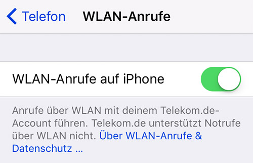 Wlan Calling