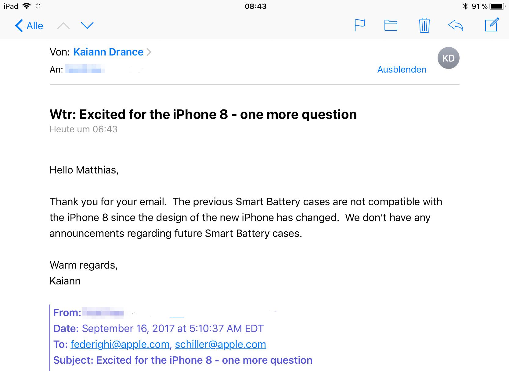 Apple Frage