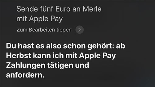 Apple Pay Siri