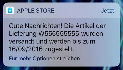 Apple Store Iphone Versand