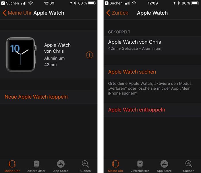 Apple Watch Entkoppeln Iphone