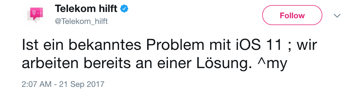 Bekanntes Problem