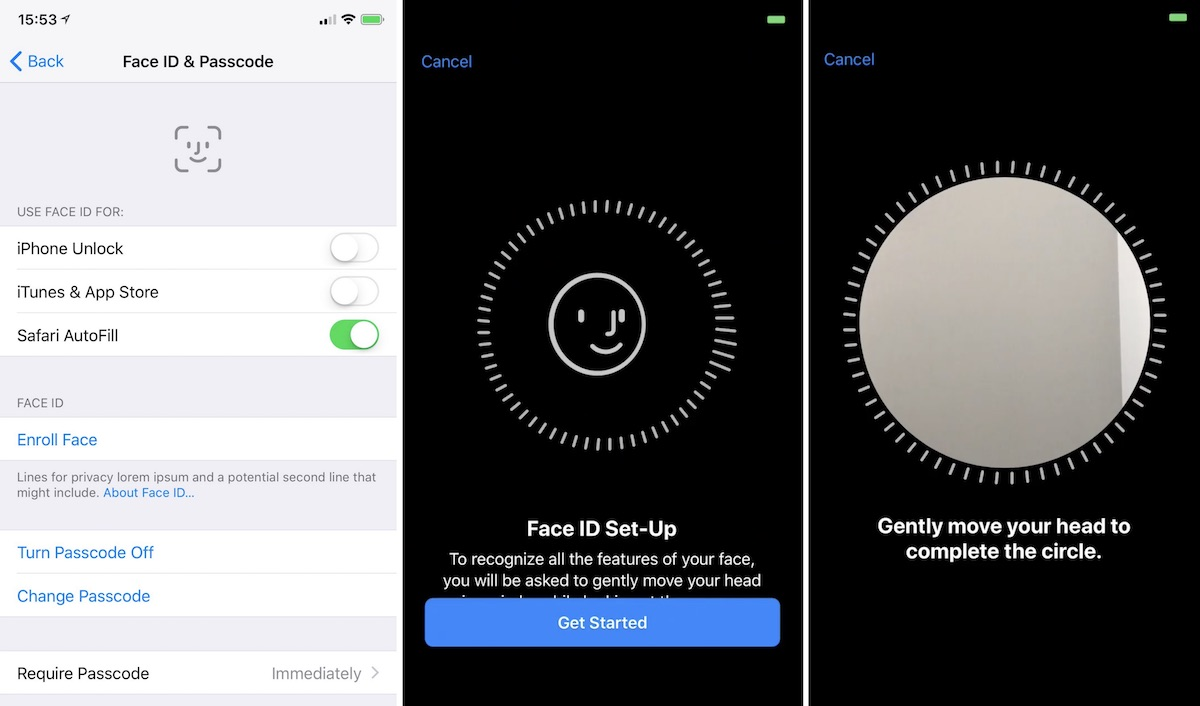 Face Id Set Up Ios 11