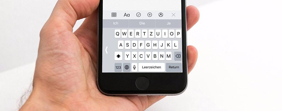 Wie man Tastatur auf iPhone 6 größer macht