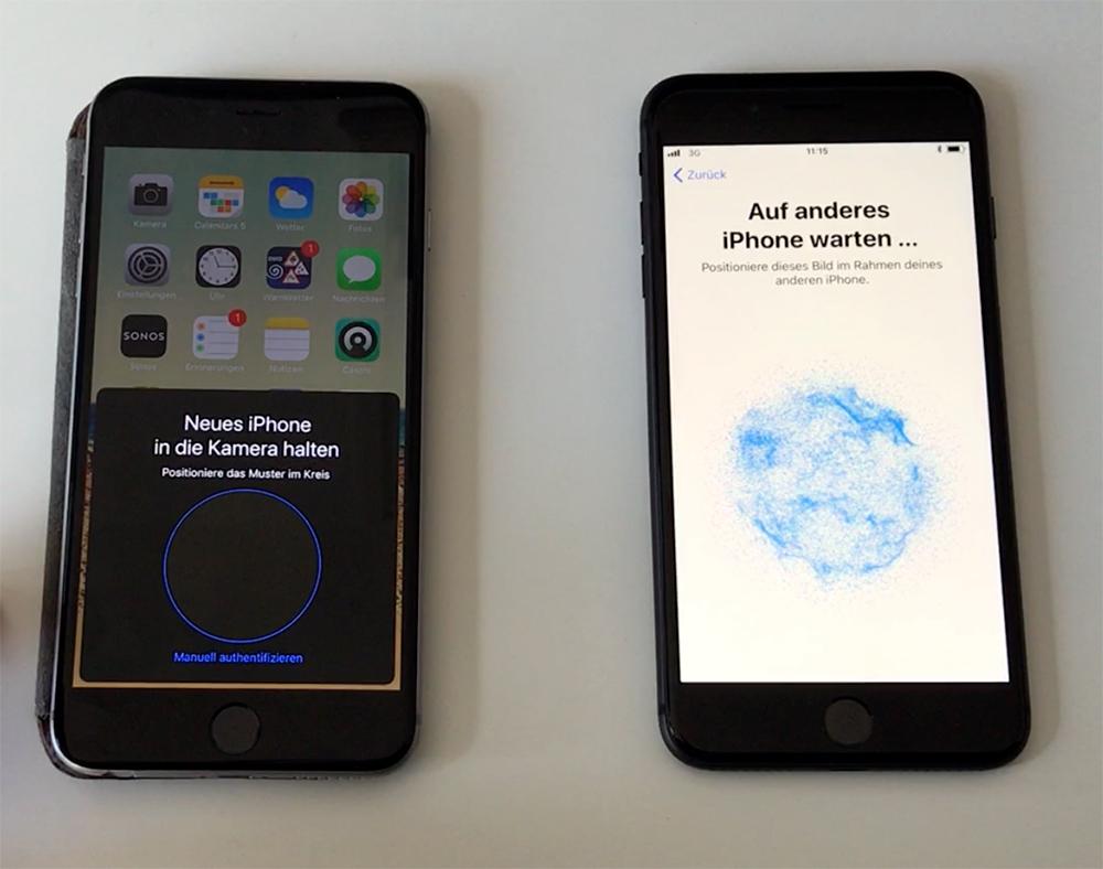 """Schnellstart"""": Neue iPhone-Einrichtung unter iOS 11 im Video ..."""