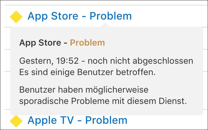 Probleme App Store