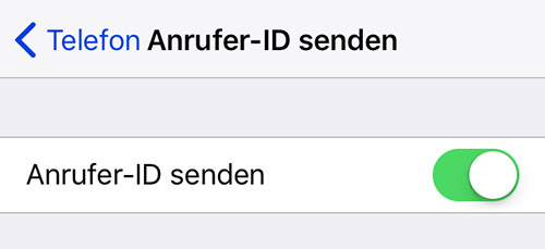 Anrufer Id Senden Iphone O2