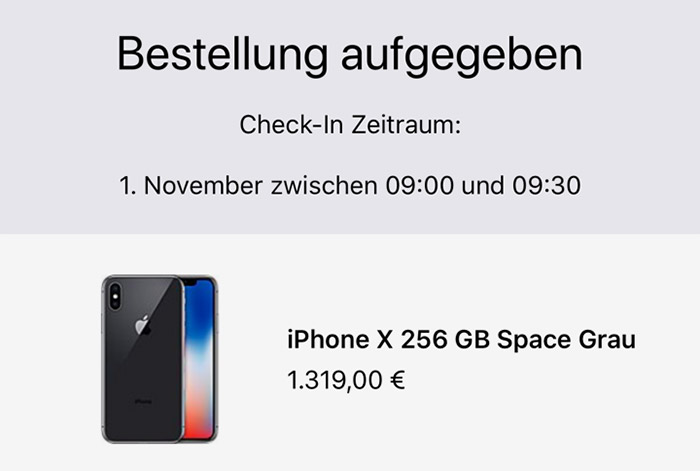 Apple Store Iphone X Abholung