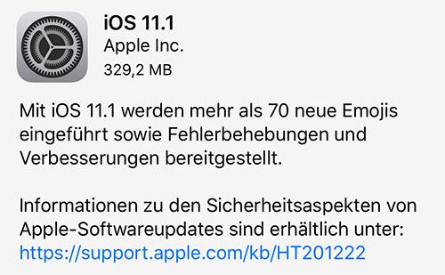 Ios 11 1