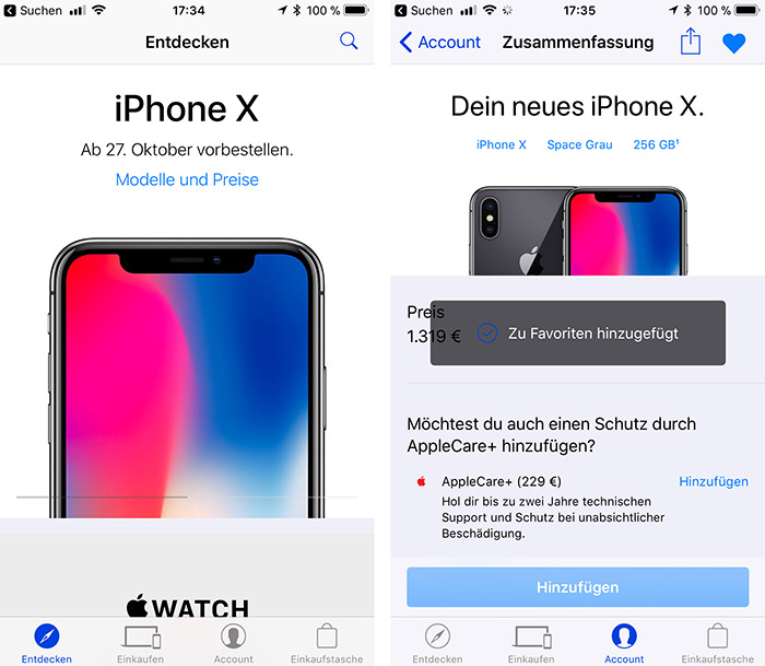 Iphone X Vorbestellung