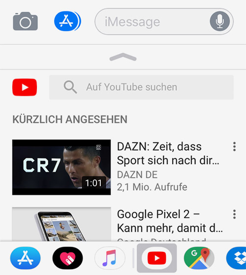 Youtube Imessage App
