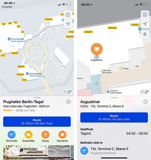 Apple Maps Berlin Tegel Indoor Karten