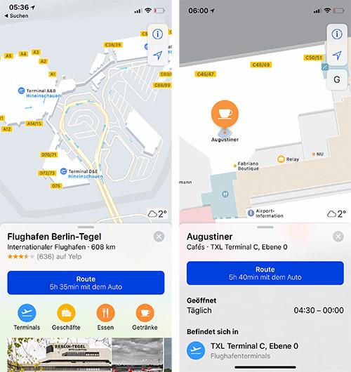 Apple Maps Berlin Tegel Indoor Karten