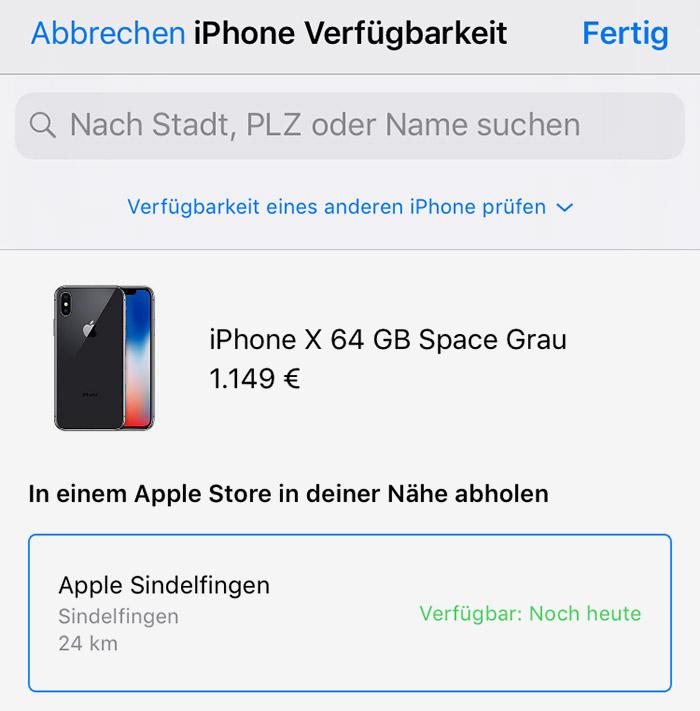 Iphone Abholung