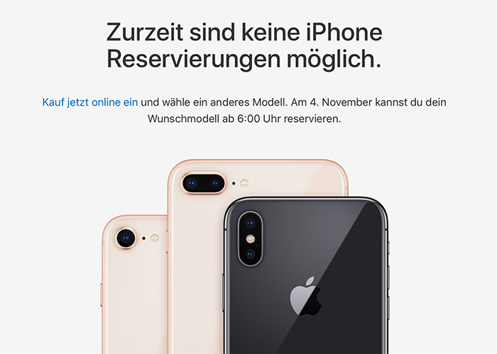 Iphone X Reservierung Ab 4 November
