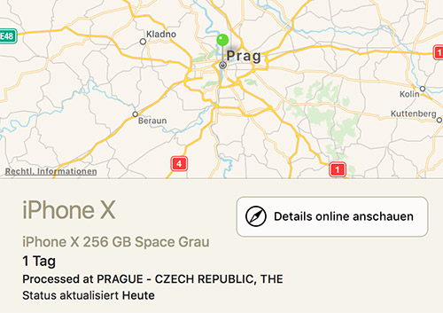 Lieferstatus Iphone X