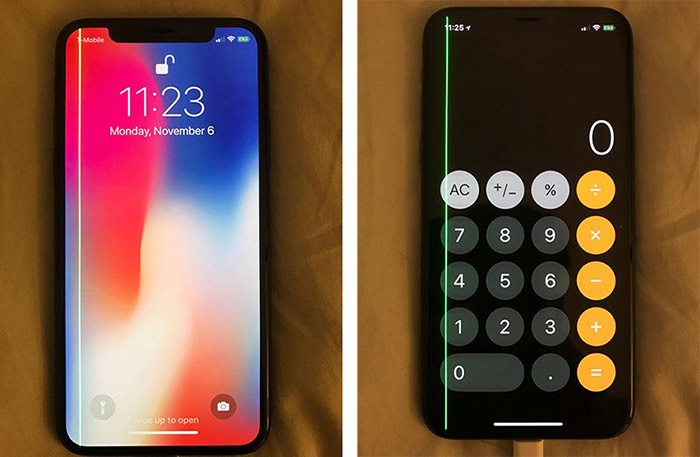 Phone X Bildschirm Fehler