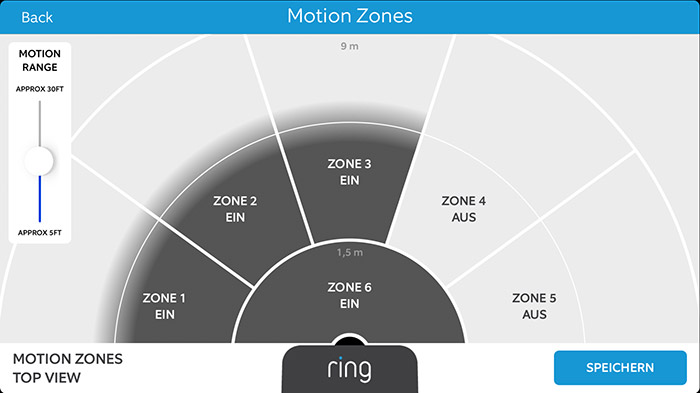 Ring Doorbell Bewegungsmelder