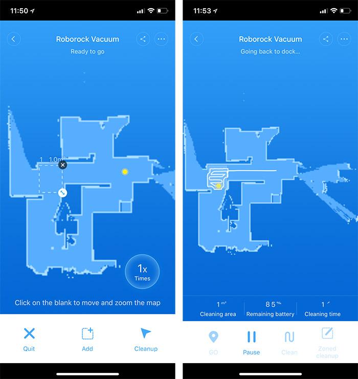 Roborock App Zonen