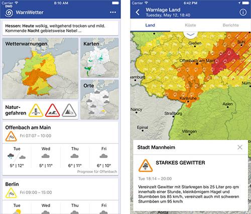 Warnwetter App Des Dwd