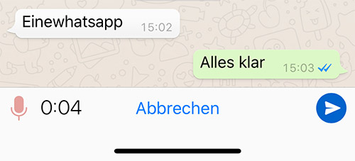 Whatsapp Audio Nachricht
