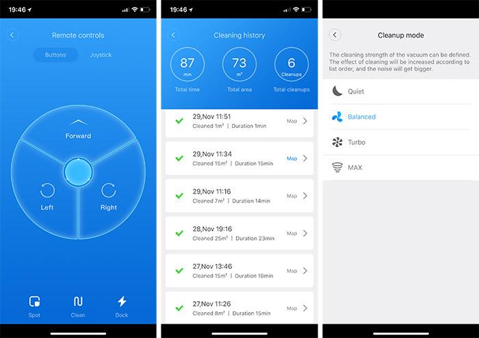 Xiaomi Vacuum App Weitere Optionen