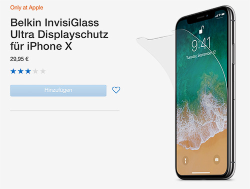 Belkin InvisiGlass Ultra Displayschutz IPhone X