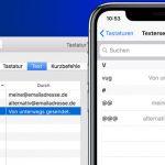 Textersetzung Feature