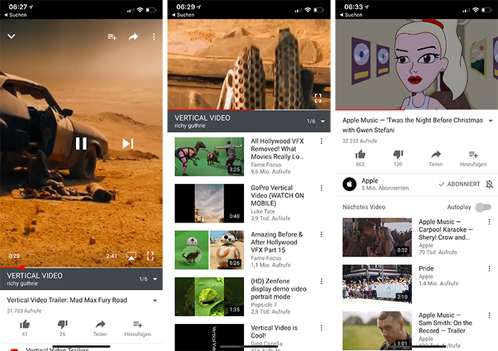 Youtube Hochformat Video