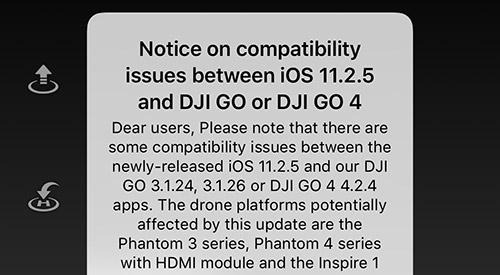 Dji Update Warnung