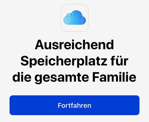 Icloud Speicher Familienfreigabe