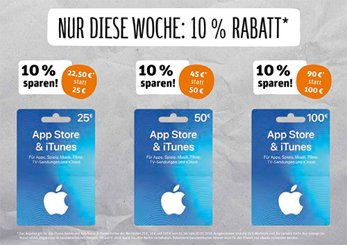itunes karten diese woche bei rewe g nstiger iphone. Black Bedroom Furniture Sets. Home Design Ideas