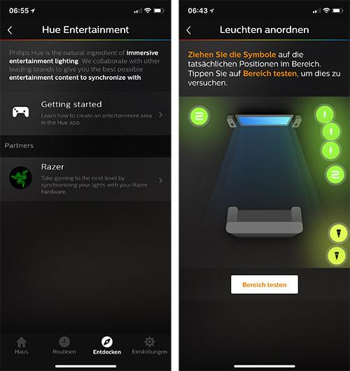 philips hue entertainment hue app startklar razer bietet zubeh r an iphone. Black Bedroom Furniture Sets. Home Design Ideas