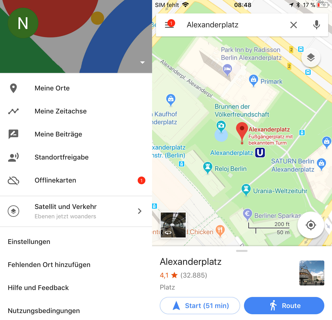Alte App Google Maps