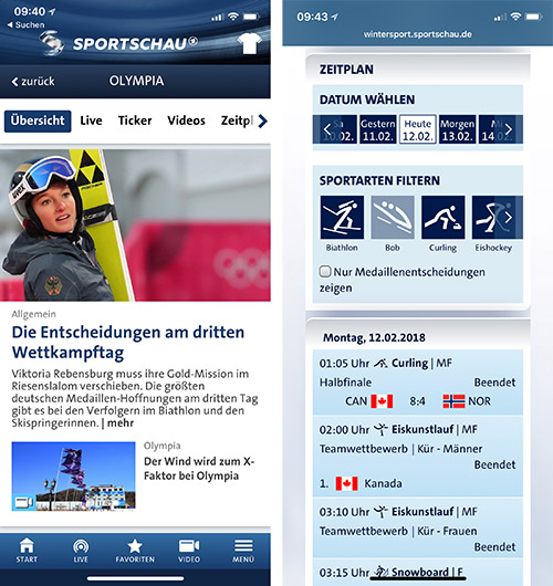 Sportschau App Update Screenshots