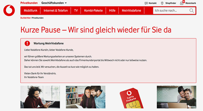 Vodafone Portal Meinvodafone