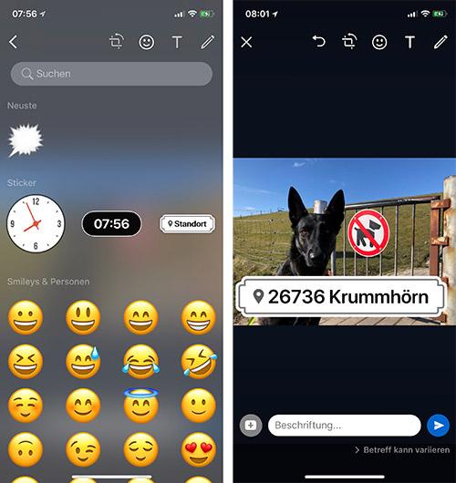 Whatsapp Sticker Uhrzeit Und Standort