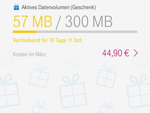 Datenvolumen Geschenk Telekom