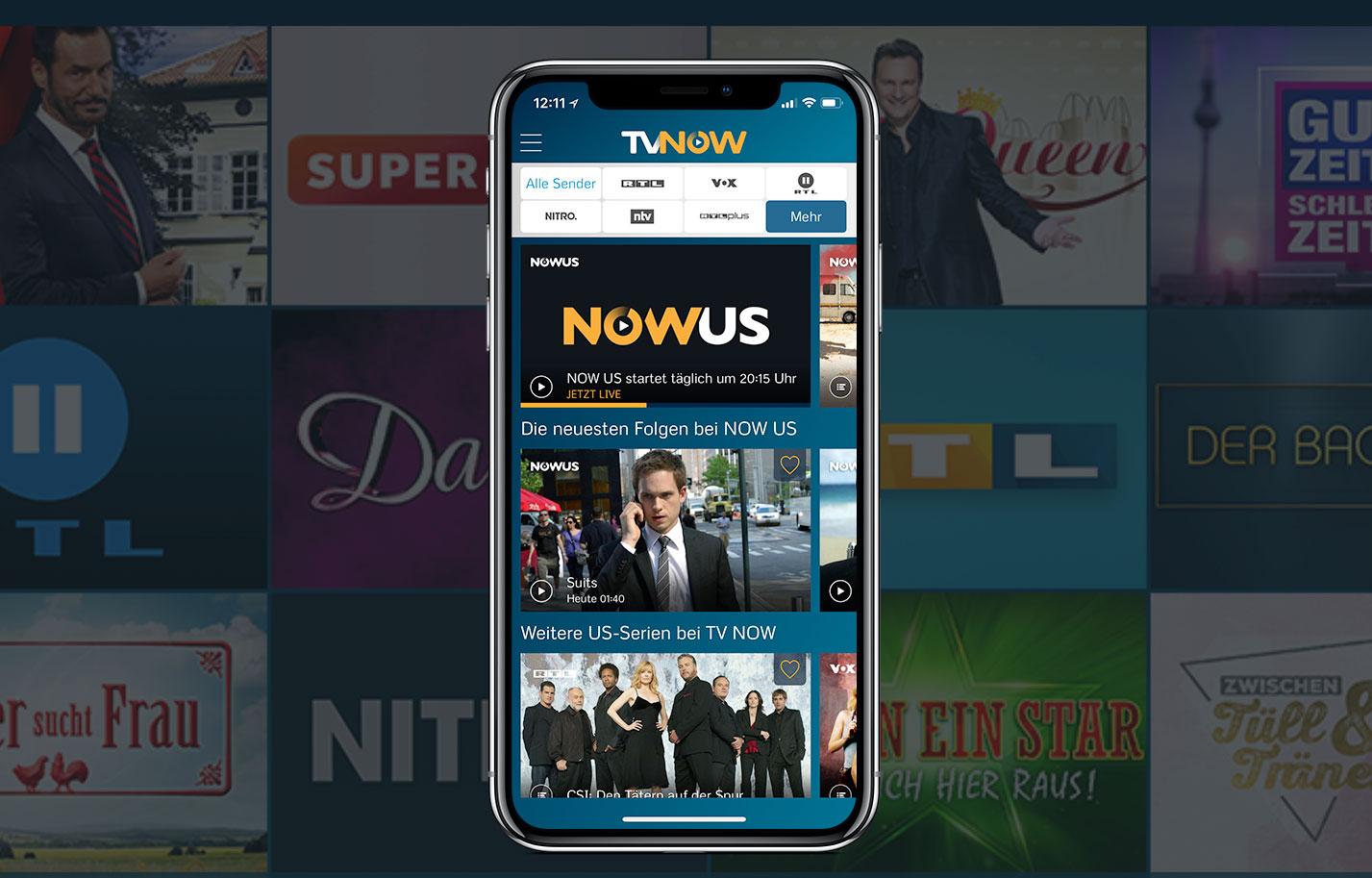 """NOW US"""": Neuer Serien Sender startet in der RTL App """"TV Now"""
