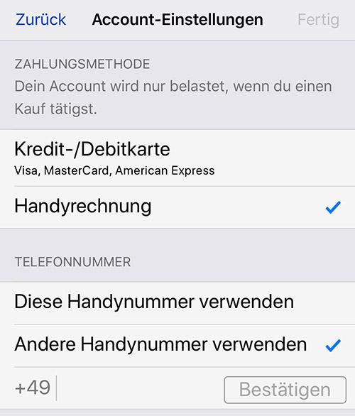 Telekom App Store Handyrechung