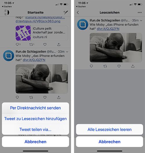 Twitter Lesezeichen Iphone
