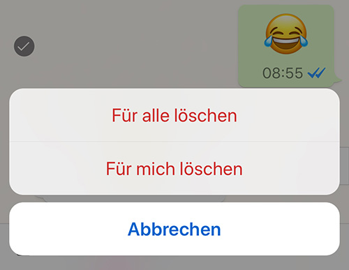 Whatsapp Fuer Alle Loeschen